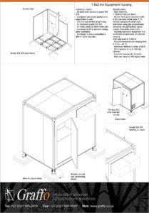 1.8x2.4m Equipment housing