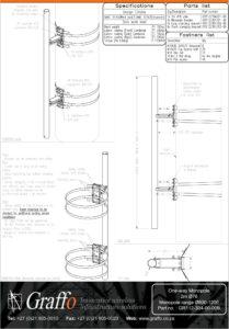2m 76mm One-Way bracket