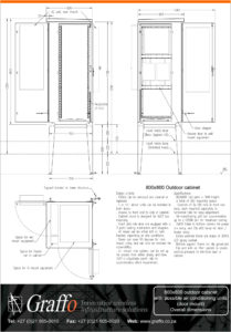 800x800 Outdoor Cabinet